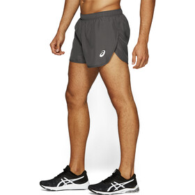 asics Silver Split Shorts Men dark grey